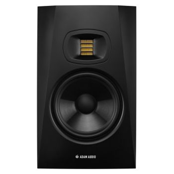 The Adam Audio T7V is a compact but powerful two-way, high-performance studio monitor designed for vertical usage in a nearfield scenario.