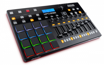 Akai MPD232 USB/MIDI Pad Controller Angled View