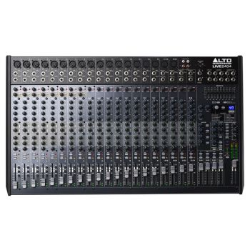 The Alto LIVE 2404 24-Channel / 4-Bus Mixer with Dynamic Control is a professional 24-channel, 4-bus mixer with all the tools you'll need to make the ideal mix sound great.
