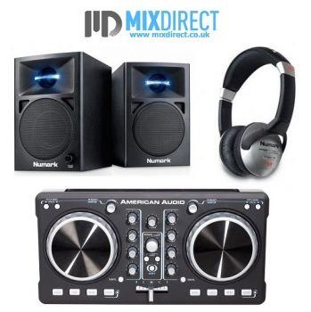 American Audio ELMC 1 and N-Wave 360 DJ Controller Package