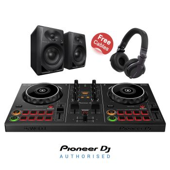 Pioneer DDJ-200, DM-40 Speakers and CUE1 Headphones Package Deal