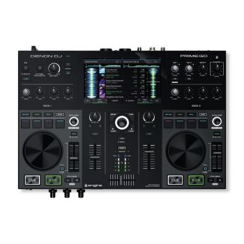 Denon DJ Prime Go 2-Deck Rechargeable Smart DJ Console with 7-inch Touchscreen