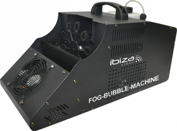 Ibiza Light 3-in-1 Fog Bubble Machine Angle