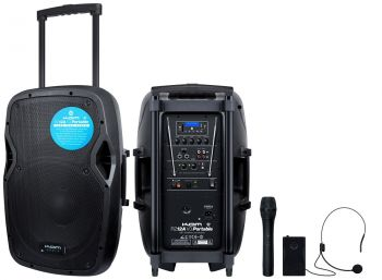 Kam RZ12A V3 Portable PA-BT PA System with Media Player - 250w