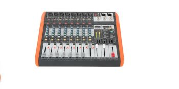 Ibiza Sound 8-CH Music Mixer with USB and Bluetooth