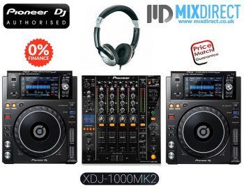 Pioneer XDJ-1000MK2 and DJM-850 DJ Equipment Package