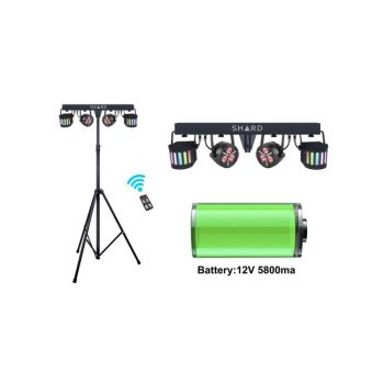 Shard LED Derby FX Bar with Stand and Remote (Battery-Powered)