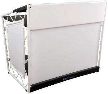 LiteConsole XPRS White Foldable Mobile DJ Stand