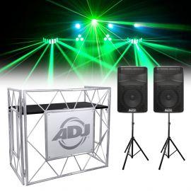 Mobile DJ Lighting, Stand and Speaker Bundle